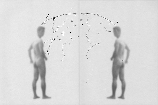 Shen Wei ©, Untiteld (Rainbow), 2013, Ink on Archival Inkjetprint, Diptych, each pannel 11,7 x 16,5 inches