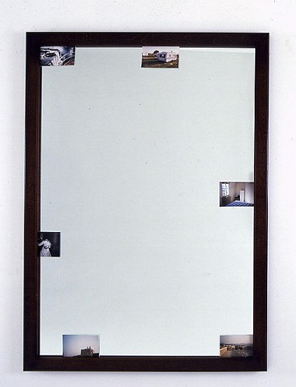 Photo-Mirror: No Camping or Overnight Parking , 1997 Photos, Mirror, Maplewood 137 x 100 cm